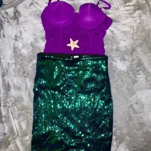 DIY Little Mermaid Halloween Costume